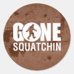 Gone Squatchin Vintage Round Stickers