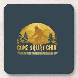 Gone Squatchin' (vintage sunset) Coaster