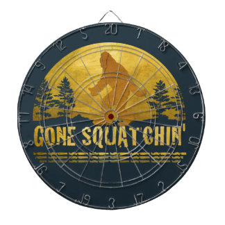 Gone Squatchin' (vintage sunset) Dart Board