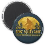 Gone Squatchin' (vintage sunset) 2 Inch Round Magnet