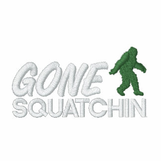 Gone Squatchin - White and Green stitching