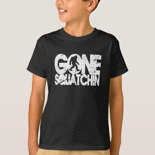 Gone Squatchin - White distressed T-Shirt