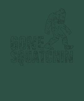 Gone Squatchin - white distressed T Shirt