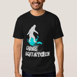 Gone Squatchin with Bigfoot logo T Shirts