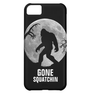 Gone Squatchin with moon and silhouette Cover For iPhone 5C