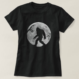 Gone Squatchin with moon and silhouette T-Shirt