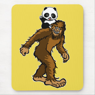 Gone Squatchin with Panda Mouse Pad