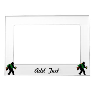 Gone Squatchin With Serape Magnetic Picture Frames