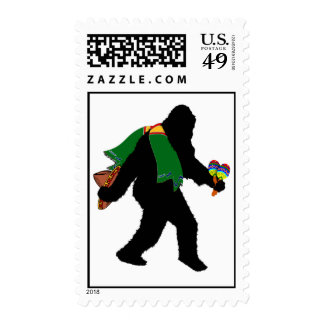 Gone  Squatchin' With Serape Postage