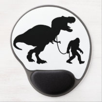 Gone squatchin with t-rex gel mouse pad