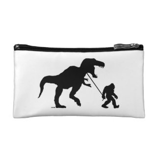 Gone Squatchin with T-rex Makeup Bag