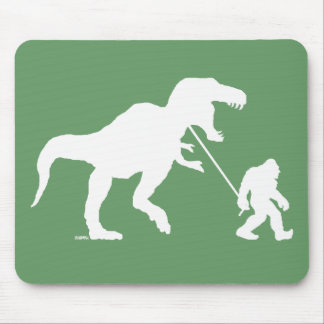 Gone Squatchin with T-rex Mouse Pads