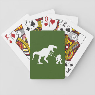 Gone Squatchin with T-rex Playing Cards