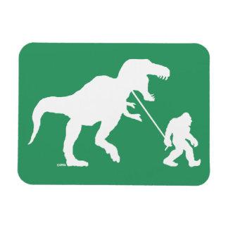Gone Squatchin with T-rex Rectangular Photo Magnet