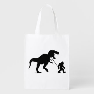 Gone Squatchin with T-rex Market Totes