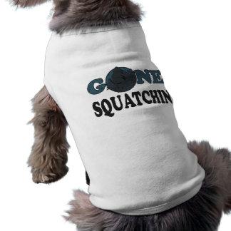 Gone Squatchin Yeti In Woods Dog Tee