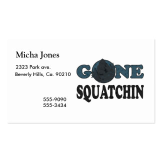 Gone Squatchin Yeti In Woods Double-Sided Standard Business Cards (Pack Of 100)