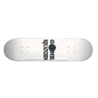 Gone Squatchin Yeti In Woods Skate Board Decks