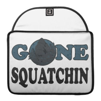 Gone Squatchin Yeti In Woods Sleeves For MacBooks