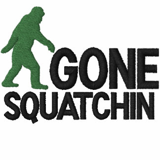 Gone Squatching large logo embroidery