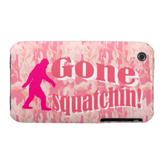 Gone Squatching on pink camouflage Case-Mate iPhone 3 Case