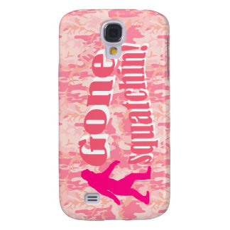 Gone Squatching on pink camouflage Galaxy S4 Case