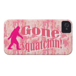 Gone Squatching on pink camouflage iPhone 4 Case