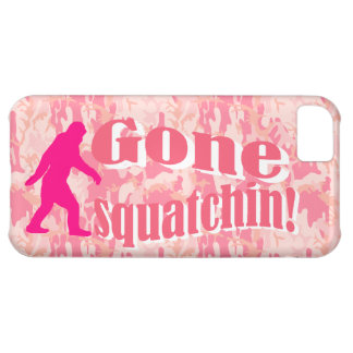 Gone Squatching on pink camouflage iPhone 5C Covers