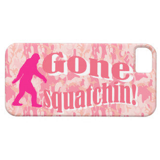 Gone Squatching on pink camouflage iPhone SE/5/5s Case