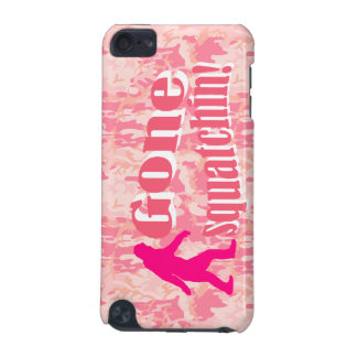 Gone Squatching on pink camouflage iPod Touch (5th Generation) Cover