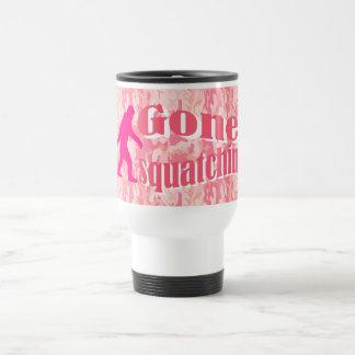 Gone Squatching on pink camouflage Travel Mug