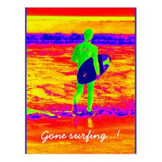Gone surfing postcard