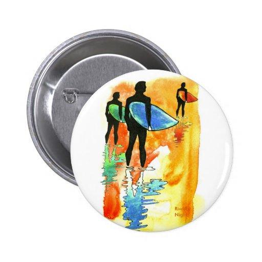 Gone Surfing v.2 Pinback Button