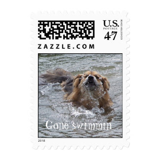 Gone swimmin' stamp