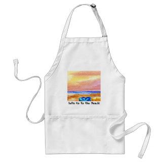 Gone Swimming Beach Baby - CricketDiane Ocean Art Adult Apron
