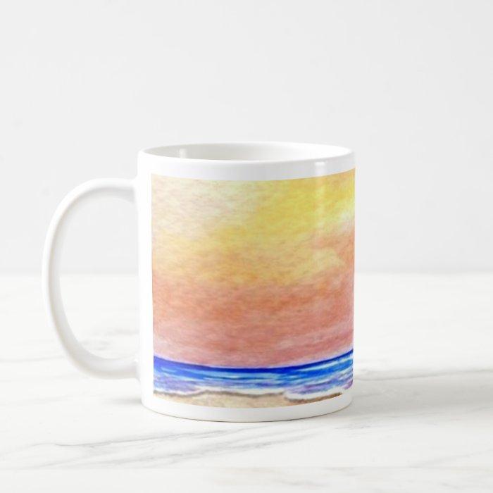 Gone Swimming Beach Baby - CricketDiane Ocean Art Coffee Mug
