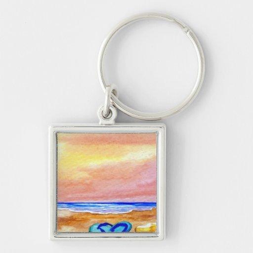 Gone Swimming Beach Baby - CricketDiane Ocean Art Keychain