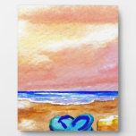 Gone Swimming Beach Ocean Surf Waves Sandals Photo Plaques
