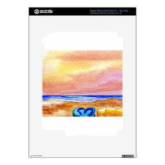 Gone Swimming Beach Ocean Surf Waves Sandals iPad 3 Skins
