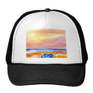 Gone Swimming Beach Ocean Surf Waves Sandals Trucker Hat