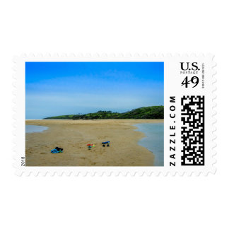 Gone Swimming - Postage Stamp