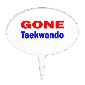Gone Taekwondo. Cake Toppers