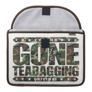 GONE TEABAGGING - Teabagged By Tea Party Movement Sleeve For MacBook Pro