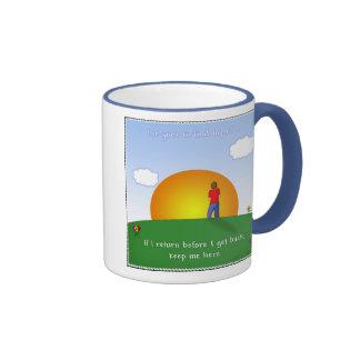 Gone To Find Myself .. Ringer Mug