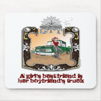 Gone to Texas Girl's Best Friend Mousepad