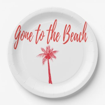 Beach Themed gone to the beach plates rea