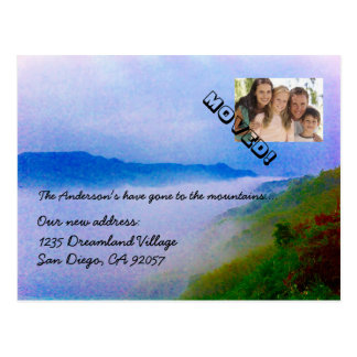 Gone to the Mountains Change of Address Your Photo Postcard