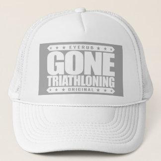 GONE TRIATHLONING - A Proud & Dedicated Triathlete Trucker Hat