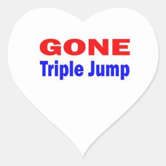 Gone Triple Jump. Heart Sticker