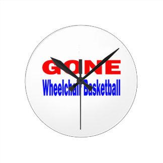 Gone Wheelchair basketball. Round Wallclock